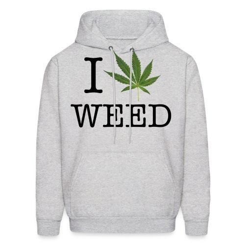 I love weed - Men's Hoodie