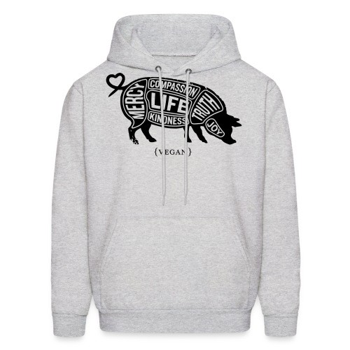 Cuts of Compassion - Black w/white - Men's Hoodie