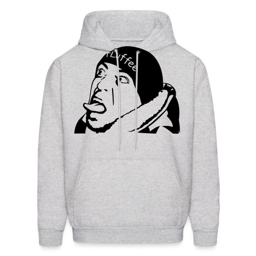 fluffee portrait tongue - Men's Hoodie
