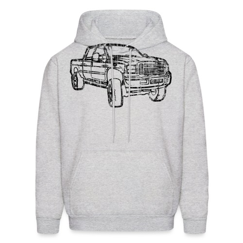 Ford Truck F250 Distressed - Men's Hoodie