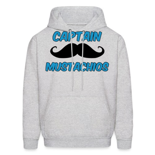 Captain Mustachios Logo For Spreadshirt T Shirt pn - Men's Hoodie
