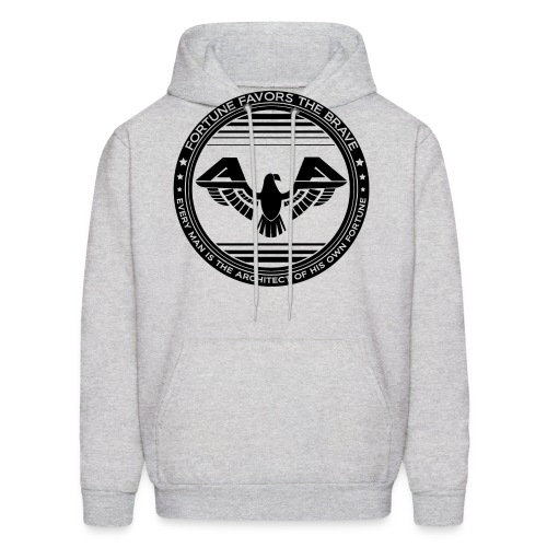 AiReal Fortune Favors the Brave - Men's Hoodie