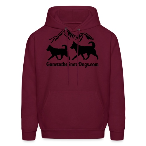 Snow Dogs with Mountain - Men's Hoodie
