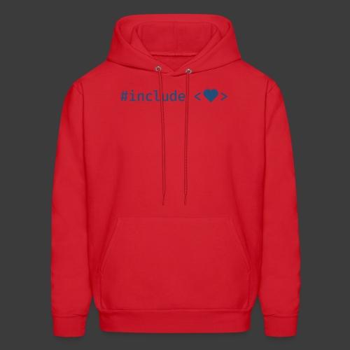 Blue Include Heart - Men's Hoodie