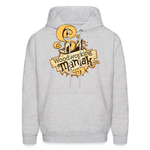 WoodworkingManiak logo 1 LARGE png - Men's Hoodie