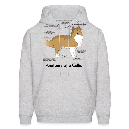 Anatomy of a Collie - Men's Hoodie