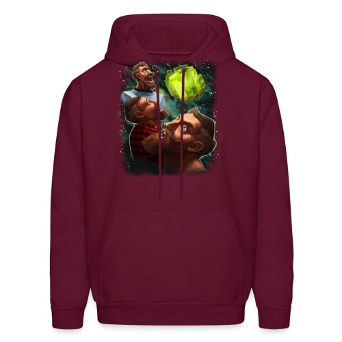 three sjin ranium transparentbk png - Men's Hoodie