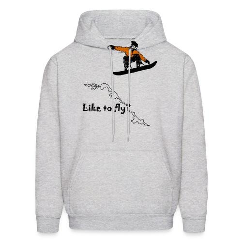 like to fly snowboarding printed hoodie - Men's Hoodie
