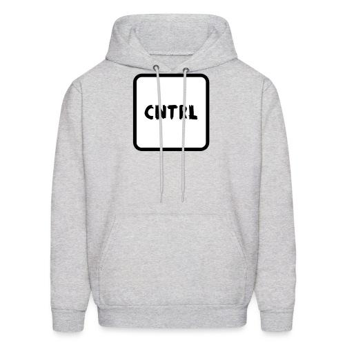 White CNTRL Logo - Men's Hoodie