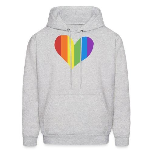 Pride Rainbow Heart - Men's Hoodie