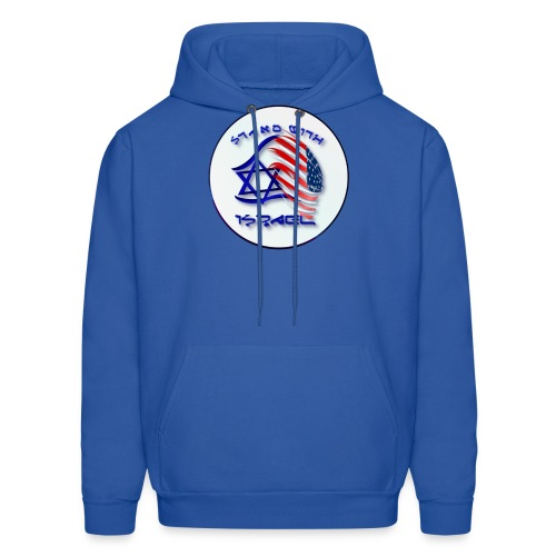 Stand With Israel - lettered Circle - Men's Hoodie