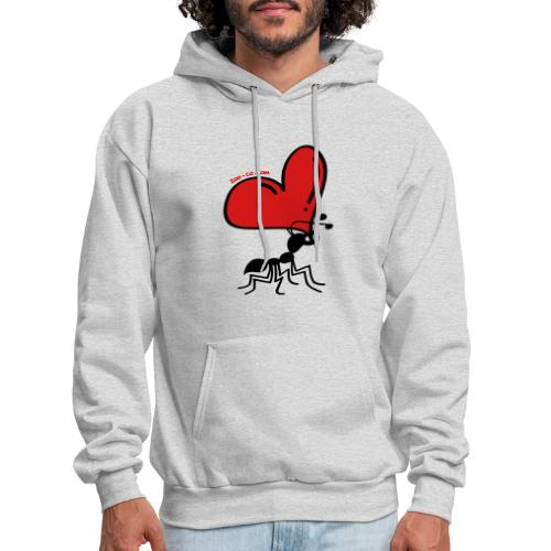 Ant Carrying the Love's Heart - Men's Hoodie