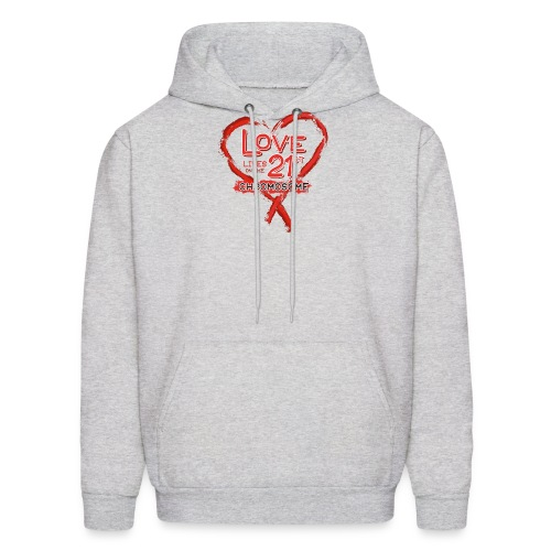 Down Syndrome Love (Red) - Men's Hoodie