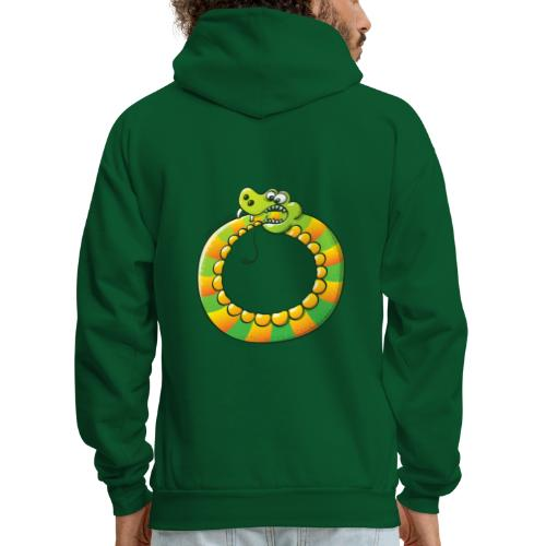 Crazy Snake Biting its own Tail - Men's Hoodie