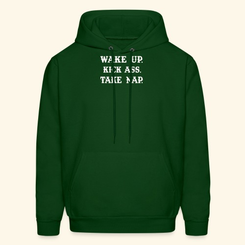 Wake Up Kick Ass Take Nap T Shirts Funny - Men's Hoodie