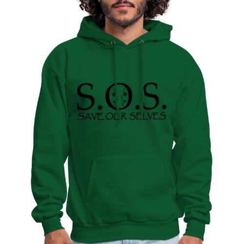 SOS Black on Black - Men's Hoodie