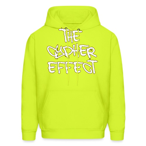 yellow outline tce2 png - Men's Hoodie