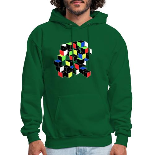 Optical Illusion Shirt - Cubes in 6 colors- Cubist - Men's Hoodie