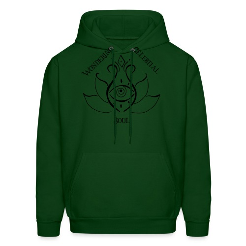 Dark Wondering Celestial Soul Logo - Men's Hoodie