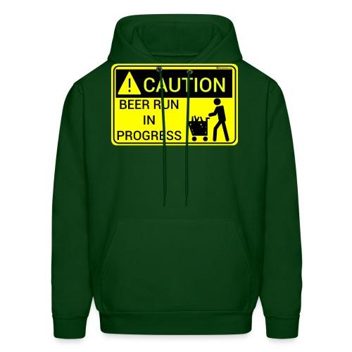 Caution Beer Run In Progress - Men's Hoodie