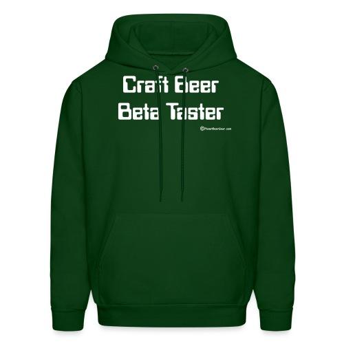 Craft Beer Beta Taster white png - Men's Hoodie