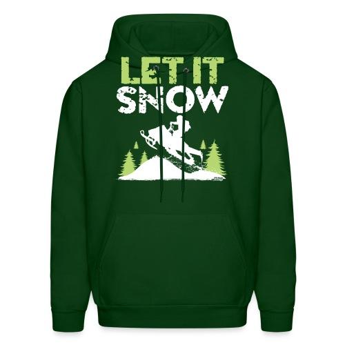 Snowmobile Let It Snow - Men's Hoodie