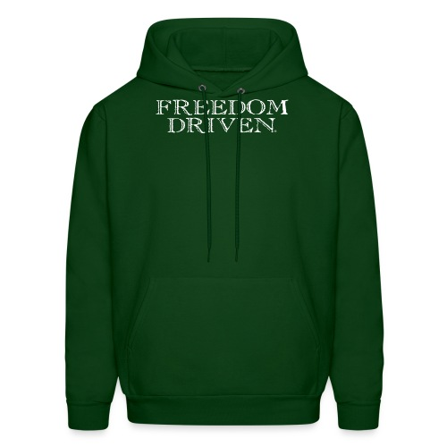 Freedom Driven Old Time White Lettering - Men's Hoodie