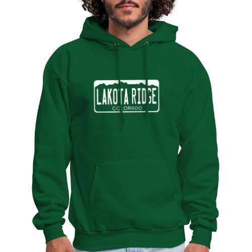 Lakota Ridge license plate w - Men's Hoodie