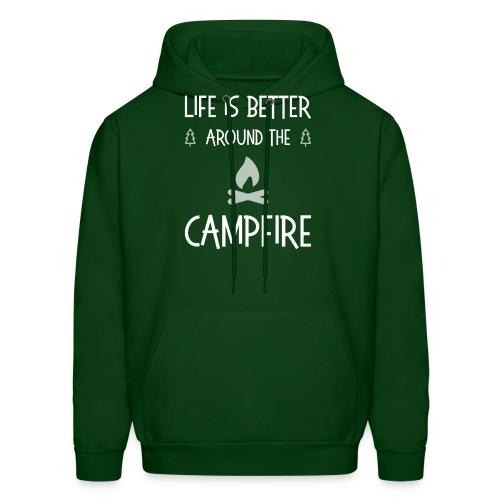 Life is better around campfire T-shirt - Men's Hoodie