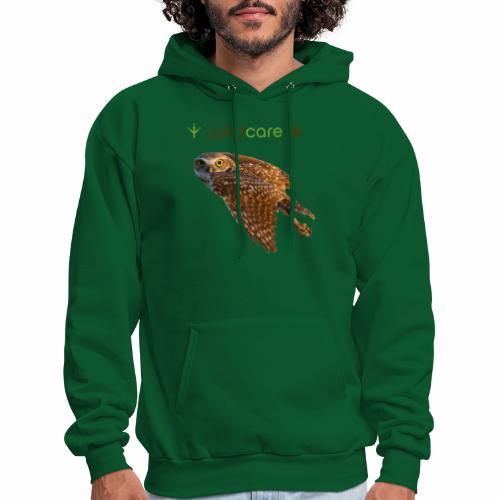 Burrowing Owl in Flight - Men's Hoodie