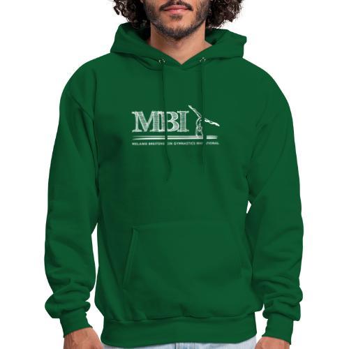 White MBI Sketch Logo - Men's Hoodie