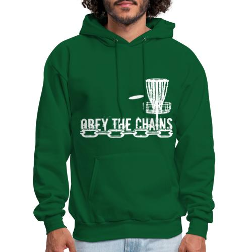 Obey the Chains Disc Golf White - Men's Hoodie