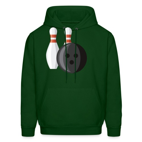 Bowling Ball and Pins - Men's Hoodie