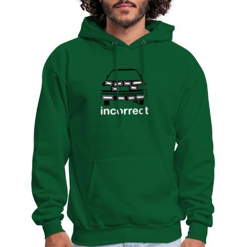 Incorrect: Bumper Stickers - Men's Hoodie