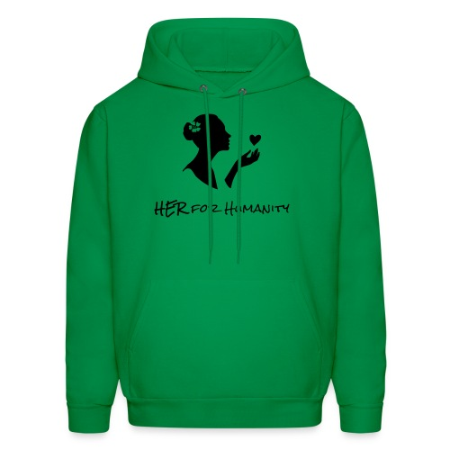 HER For Humanity logo Vertical black - Men's Hoodie