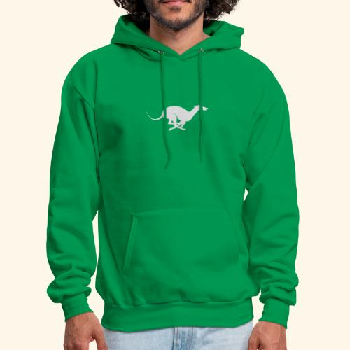 Light Grey Running Greyhound - Men's Hoodie