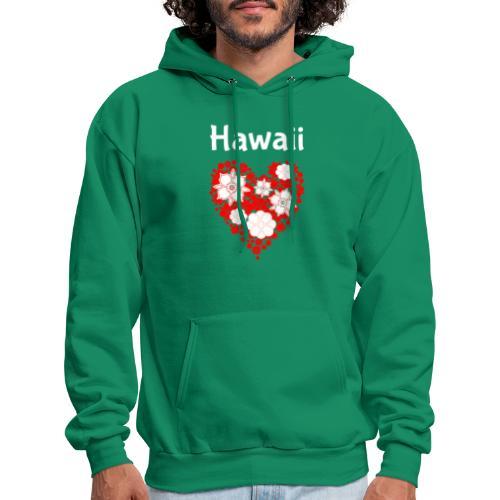 Hawaii Flower Heart Tropical Paradise - Men's Hoodie
