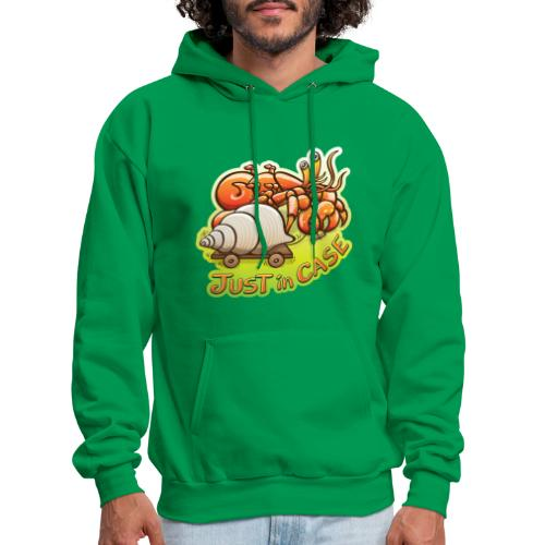 Hermit crab goes out but takes shell, just in case - Men's Hoodie