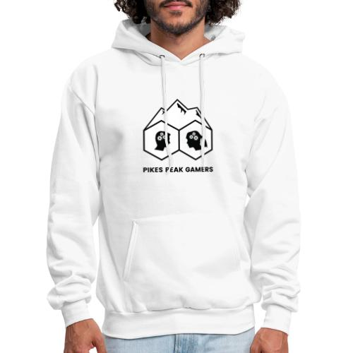 Pikes Peak Gamers Logo (Solid White) - Men's Hoodie