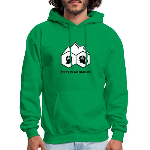 Pikes Peak Gamers Logo (Solid White) - Men's Hoodie