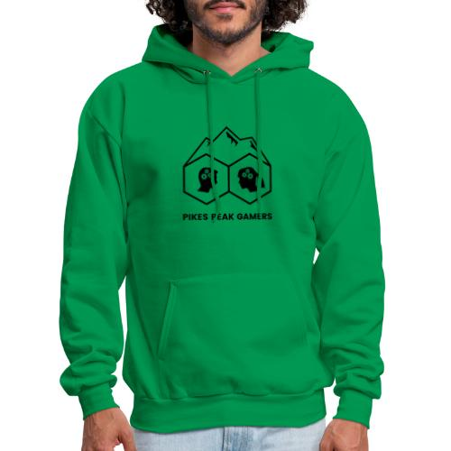 Pikes Peak Gamers Logo (Transparent Black) - Men's Hoodie