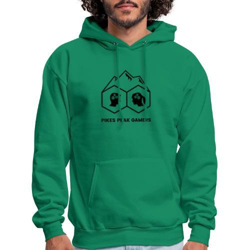 Pikes Peak Gamers Logo (Transparent Black) - Men's Hoodie