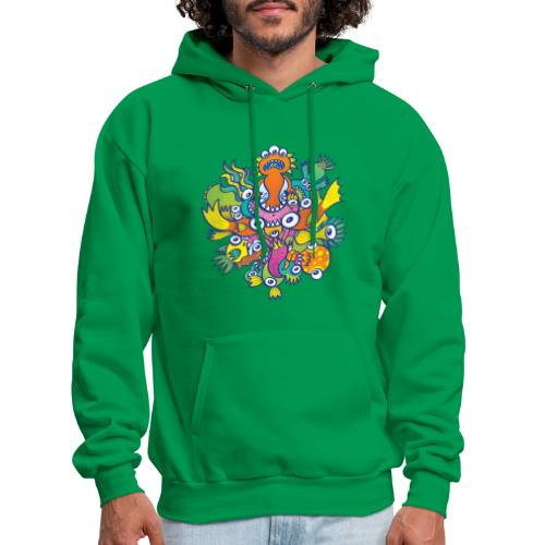 Don't let this evil monster gobble our friend - Men's Hoodie
