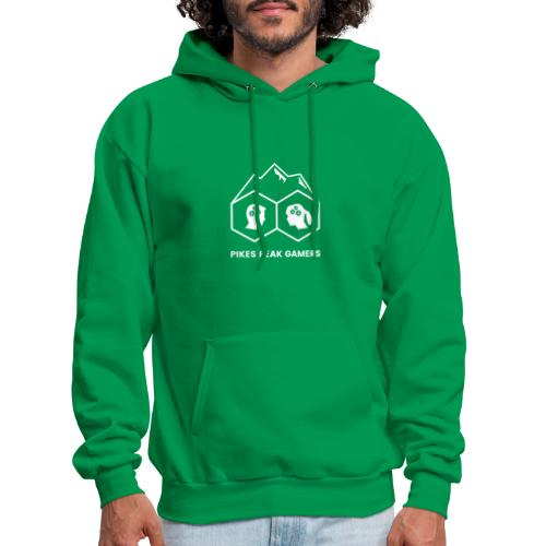 Pikes Peak Gamers Logo (Transparent White) - Men's Hoodie
