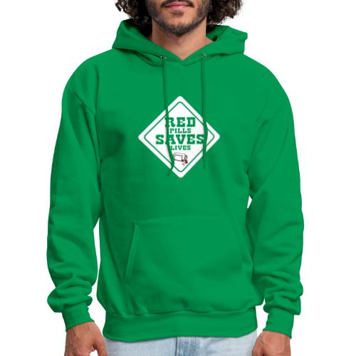 Red Pills Saves Lives White - Men's Hoodie