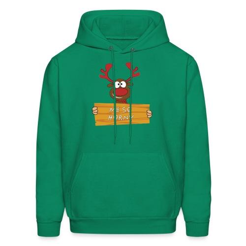 Red Christmas Horny Reindeer 9 - Men's Hoodie