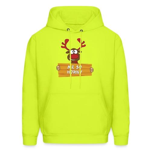 Red Christmas Horny Reindeer 3 - Men's Hoodie