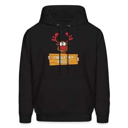 Red Christmas Horny Reindeer 1 - Men's Hoodie