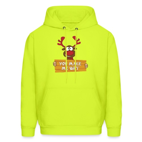 Red Christmas Horny Reindeer 2 - Men's Hoodie