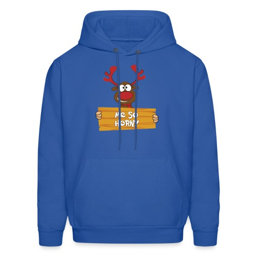Red Christmas Horny Reindeer 6 - Men's Hoodie